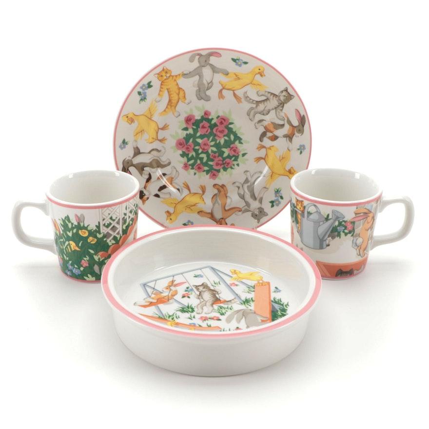 "Tiffany & Co. ""Tiffany Playground"" Children's Porcelain Dinnerware"
