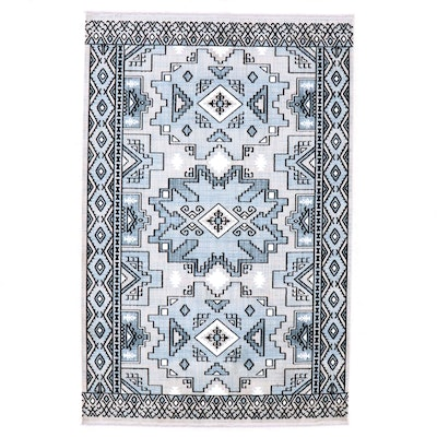 5'0 x 7'1 Turkish Power Loomed Caucasian Style Wool Area Rug, 2010's