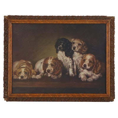"""Offset Lithograph after Adelaide Hiebel """"Wanted - A Home"""""""