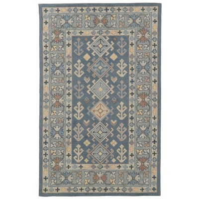 5'0 x 8'0 Hand Tufted Indo-Turkish Wool Area Rug, 2010's