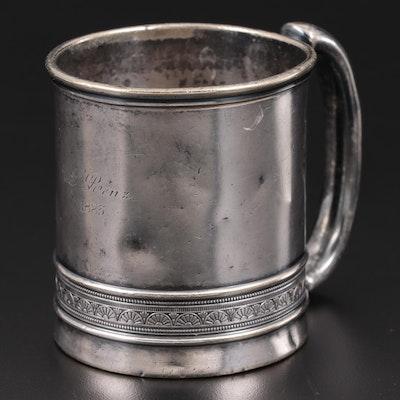 Gorham Silver Plate Mug, 1883