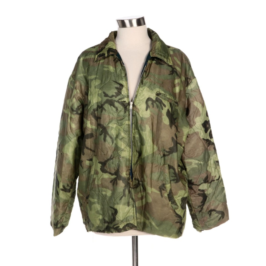 Vietnam TUY-HOA Camouflage Jacket with Embroidered Dragon Patch, 1968-1969