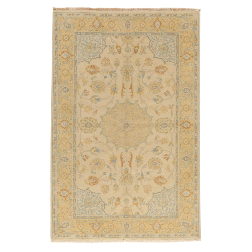 5'7 x 8'9 Hand-Knotted Indo-Persian Tabriz Rug, 2010s