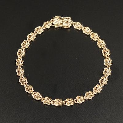 14K Fancy Knot Link Bracelet