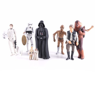 """Star Wars"" Figurines and Action Figures Including Luke, Leia, and Han"