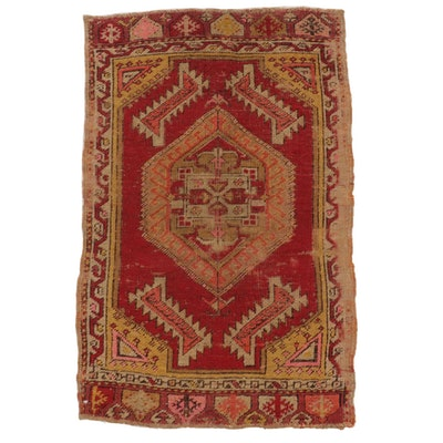 1'8 x 2'7 Hand-Knotted Turkish Caucasian Rug, circa 1880