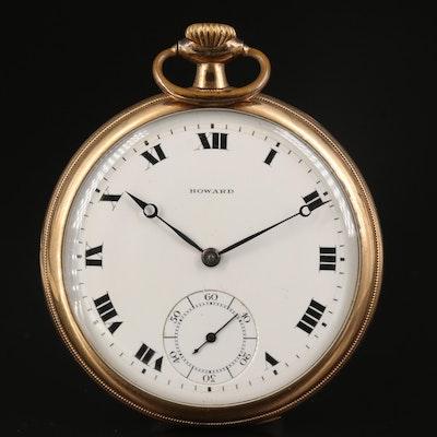1912 E. Howard 14K Gold Filled Open Face Pocket Watch