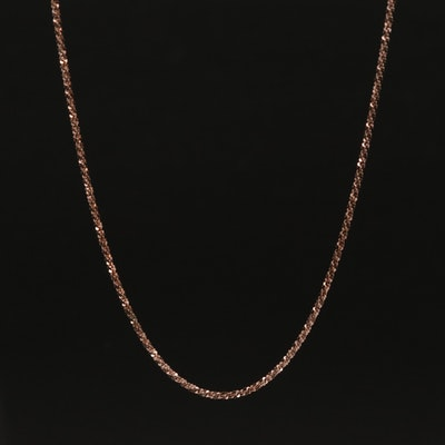 14K Oxidized Sparkle Chain Necklace