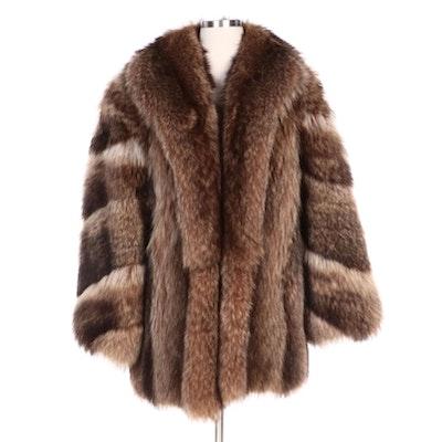 Golden Raccoon Fur Full Skin Stroller Coat from Jack Slade Furs