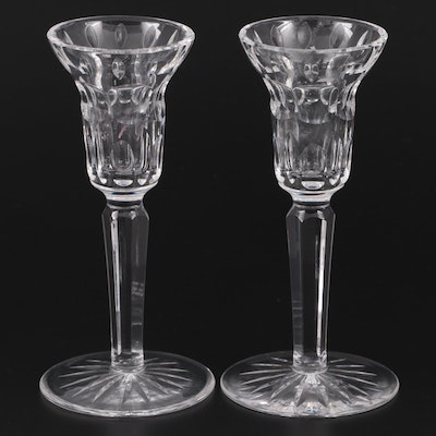 Pair of Waterford Crystal Single Light Candlesticks, Late 20th Century
