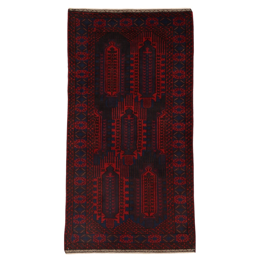 3'4 x 6'4 Hand-Knotted Persian Baluch Wool Area Rug, 2000