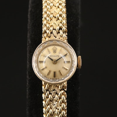 1954 Rolex Cocktail 14K Yellow Gold Stem Wind Wristwatch