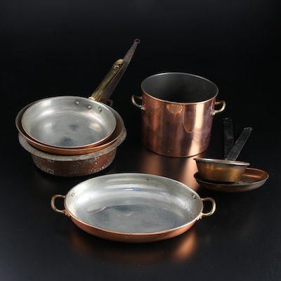 Copral Tinned Copper Sauté Pan and Other Copper Cookware