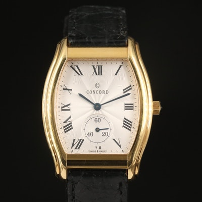 Concord Bennington 18K Yellow Gold Quartz Wristwatch