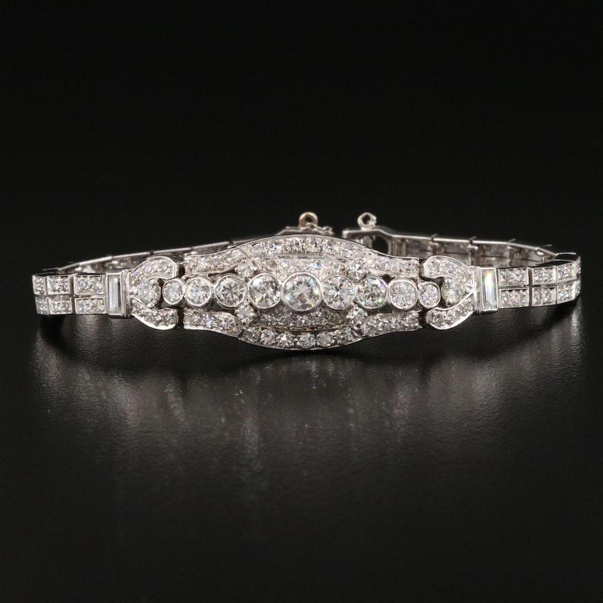 Platinum 3.96 CTW Diamond Bracelet