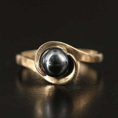 10K Hematite Ring