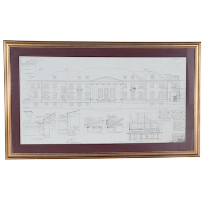 Lithograph after E.T. Hutchings of Architectural Design