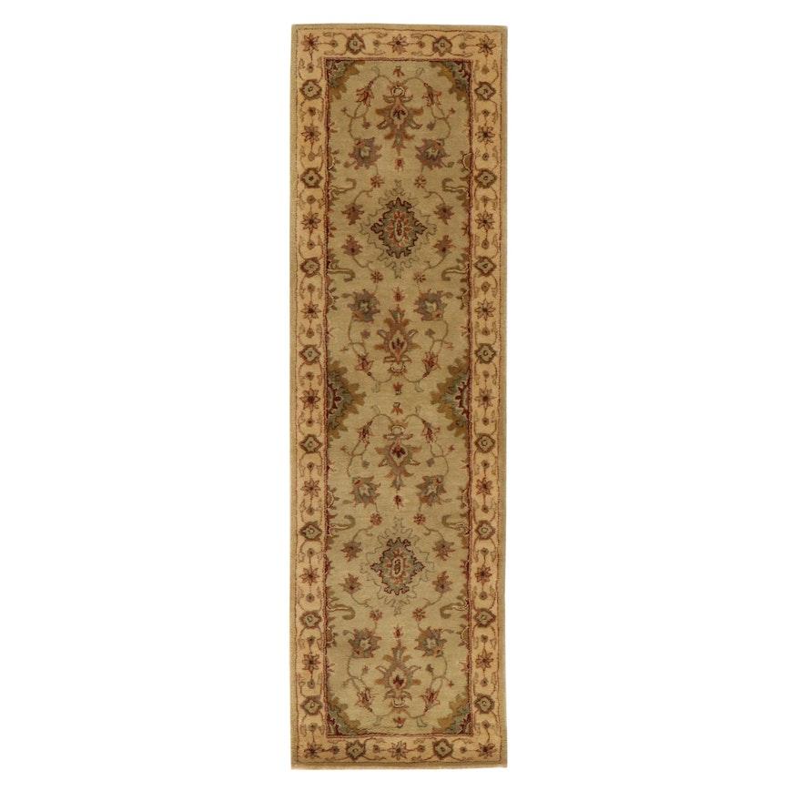 2'5 x 8'1 Hand-Tufted Sino-Persian Tabriz Carpet Runner, 2010s
