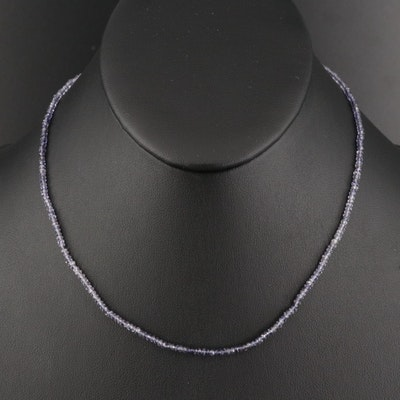 9K Tanzanite Toggle Necklace