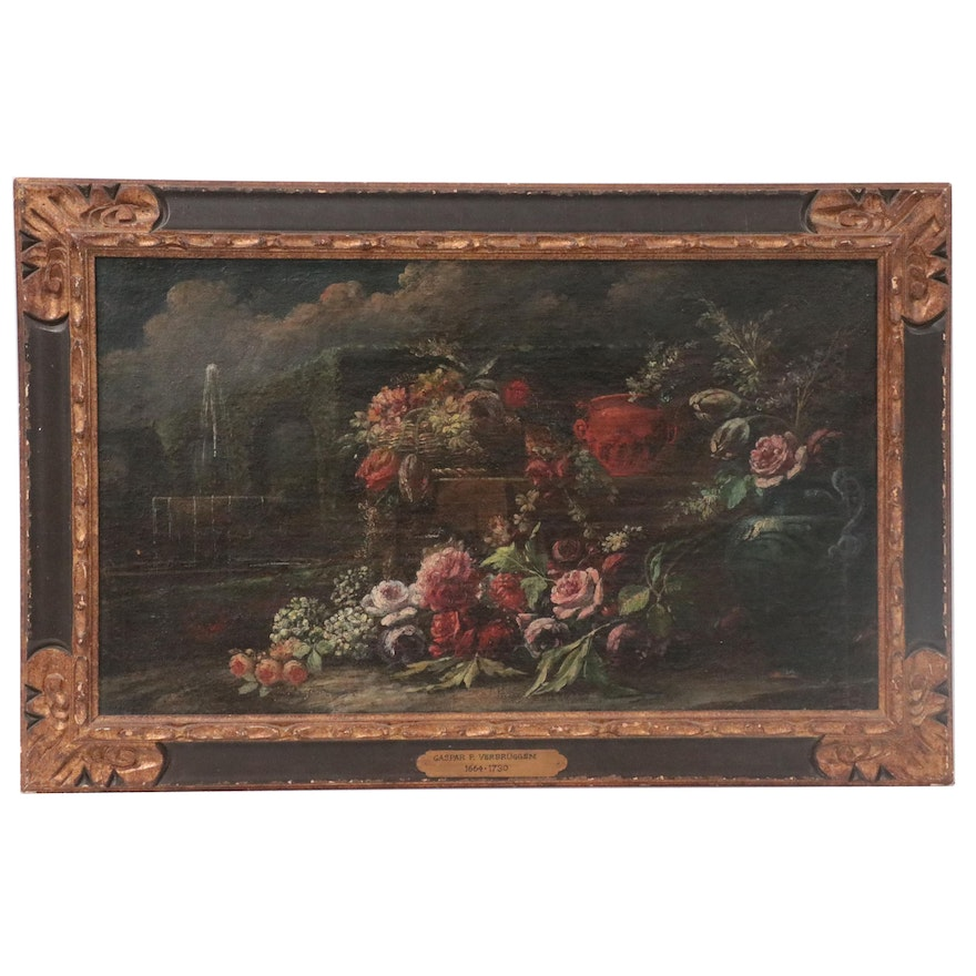 Floral Still Life Oil Painting In the Style of Gaspar P. Verbruggen