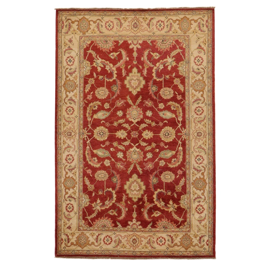 5'6 x 8'8 Hand-Knotted Momeni Sino-Persian Style Rug, 2010