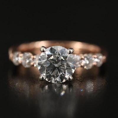 14K Rose Gold 1.57 CTW Diamond Ring