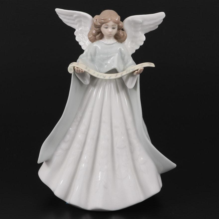 """Lladró """"Singer Angel"""" Porcelain Figurine Designed by Francisco Catala"""