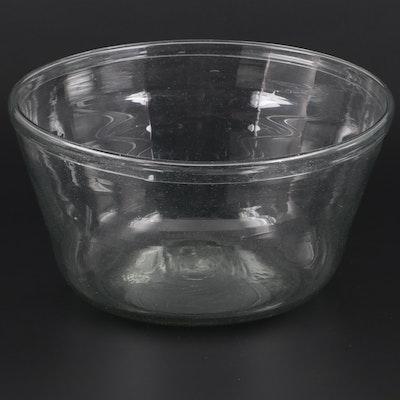 American Clear Blown Glass Bowl