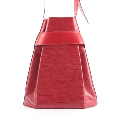 Louis Vuitton Sac d'Epaule Shoulder Bag in Red Epi Leather