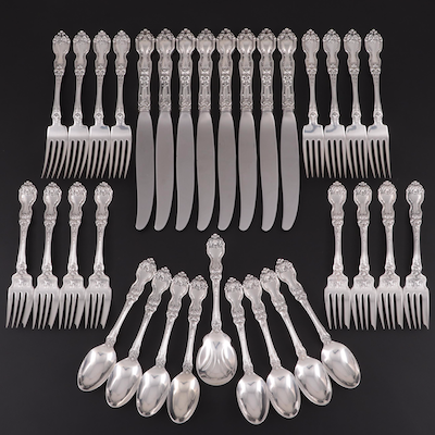 "Wallace ""La Reine"" Sterling Silver Flatware, Early 20th Century"