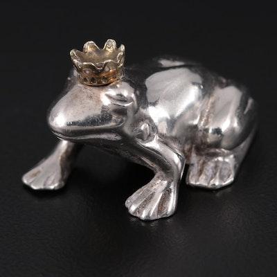 """Vilmain & Klinger """"Frog Prince"""" Sterling Silver Figurine"""
