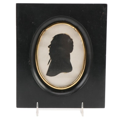American Paper Cut-Out Silhouette, Late 19th Century