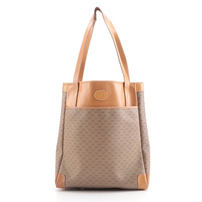 Gucci MicroGuccissima Tote with Leather Trim