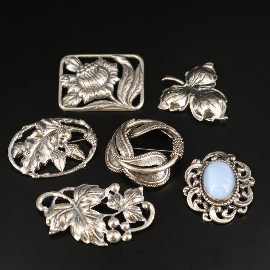 Danecraft Nature Brooches with Moonglow Lucite