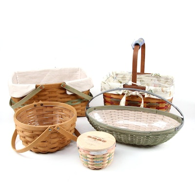 Longaberger Collectors Club and More Handwoven Baskets and Ceramic Charms