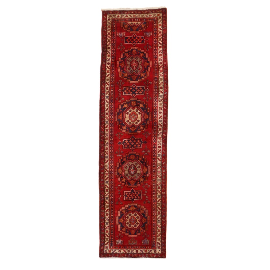 3'6 x 12'11 Hand-Knotted Northwest Persian Runner, 1960s