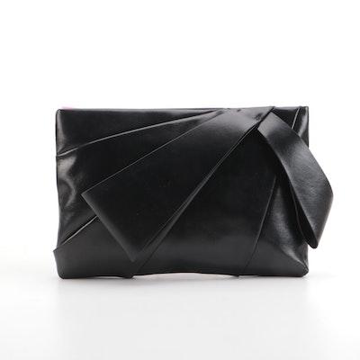 Kate Spade Stevie Black Vegan Leather Zip Clutch