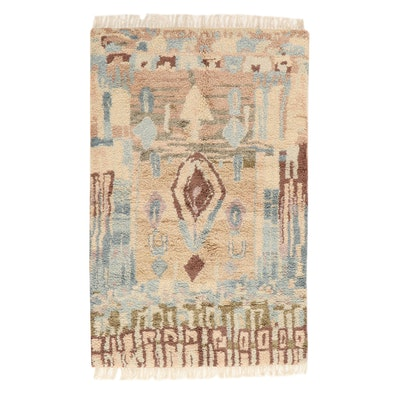 5'2 x 8'6 Hand-Knotted Indo-Turkish Oushak Rug, 2010s