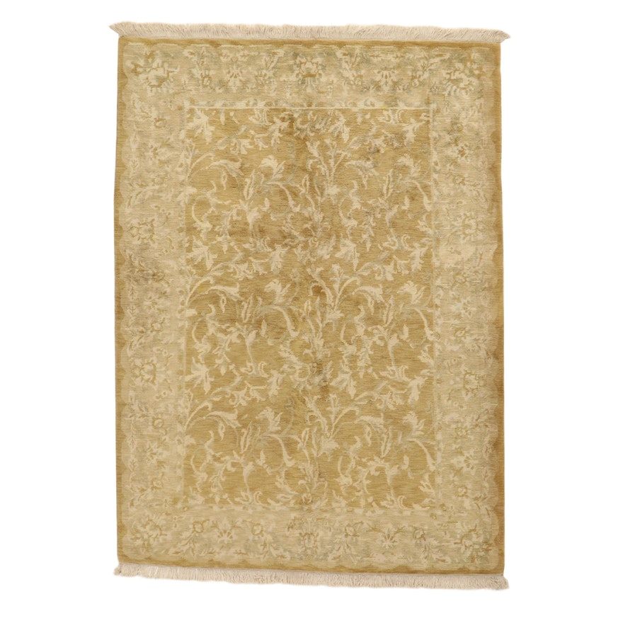 6'4 x 9'2 Sino-Persian Tabriz Wool Area Rug, 2010's
