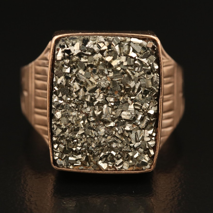 Victorian 10K Pyrite Ring
