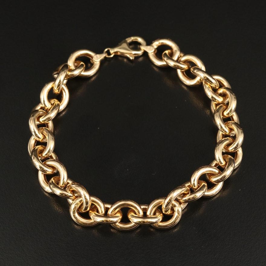 Italian 14K Cable Link Bracelet