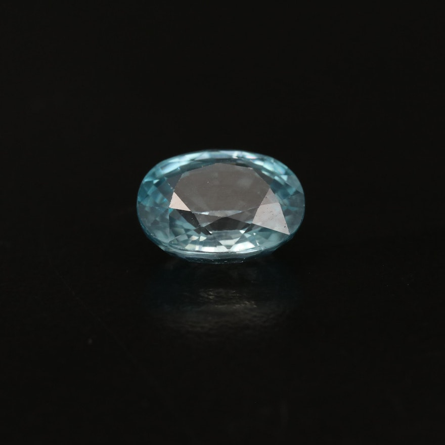 Loose 4.79 CT Oval Faceted Zircon