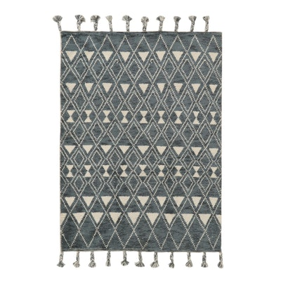 5'5 x 8'4 Hand-Knotted Indo-Moroccan Rug, 2010s