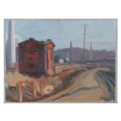 "William Pfahl Oil Painting ""Old Switch House,"" 2019"
