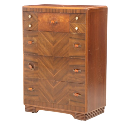 Art Deco Hardwood-Veneered Four-Drawer Chest, circa 1930