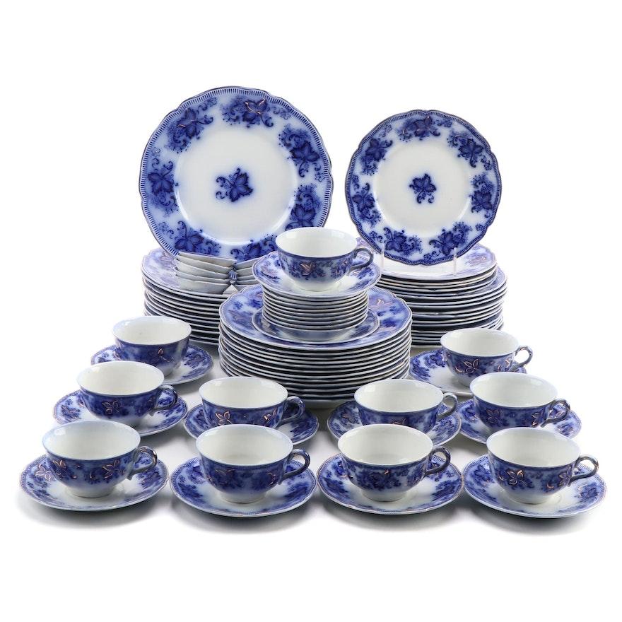 """Johnson Bros England """"Princeton Blue """" Stoneware Dinnerware, 1900–1912"""