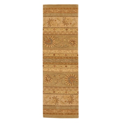 2'6 x 8 Hand-Tufted Sino-Persian Tabriz Wool Carpet Runner, 2010's