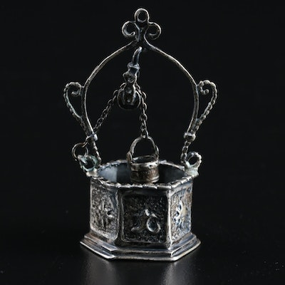 Miniature Sterling Silver Wishing Well Figurine