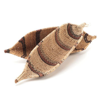 Hand Woven Straw Decorative Baskets