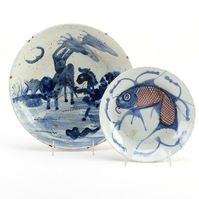 Chinese Swatow Style Ceramic Dishes